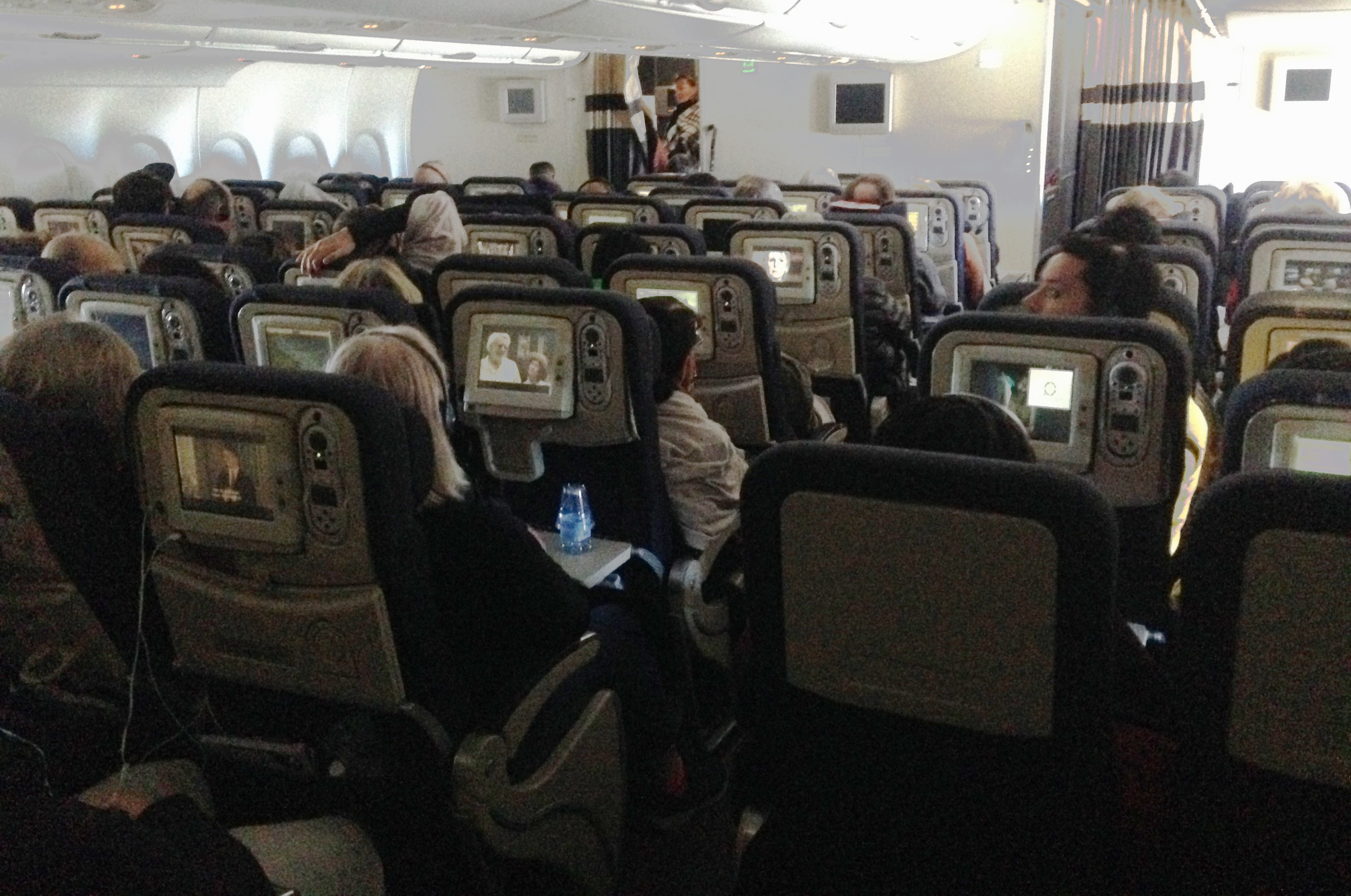 File Interior Of Air France A380 Lower Deck Economy Cabin Jpg