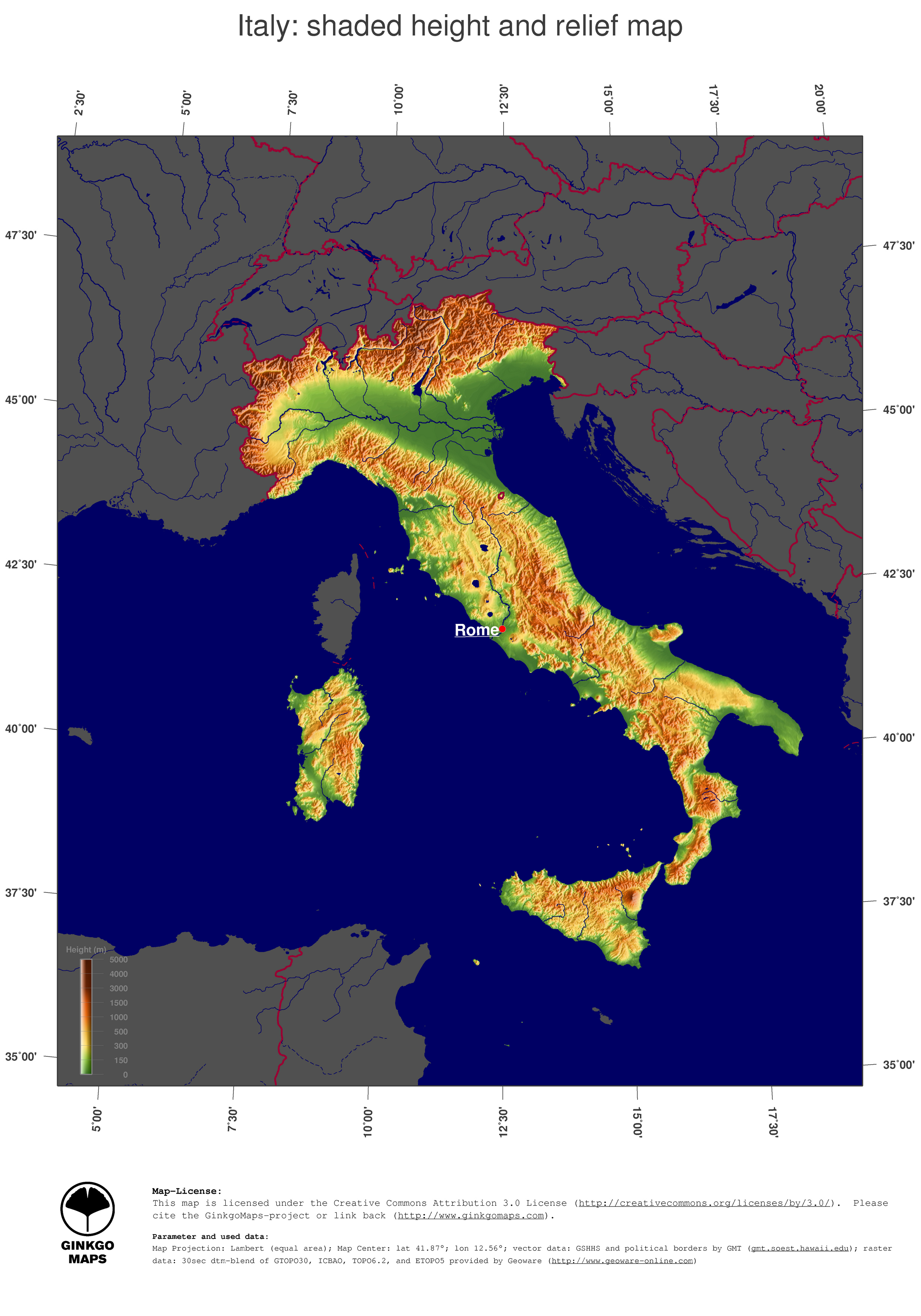 Topographic Map Of Rome.File Italy Topography Map Jpg Wikimedia Commons
