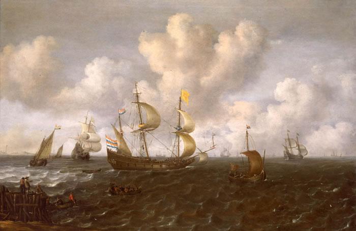 File:Joachim de Vries - A Dutch Ship Before the Wind.jpg
