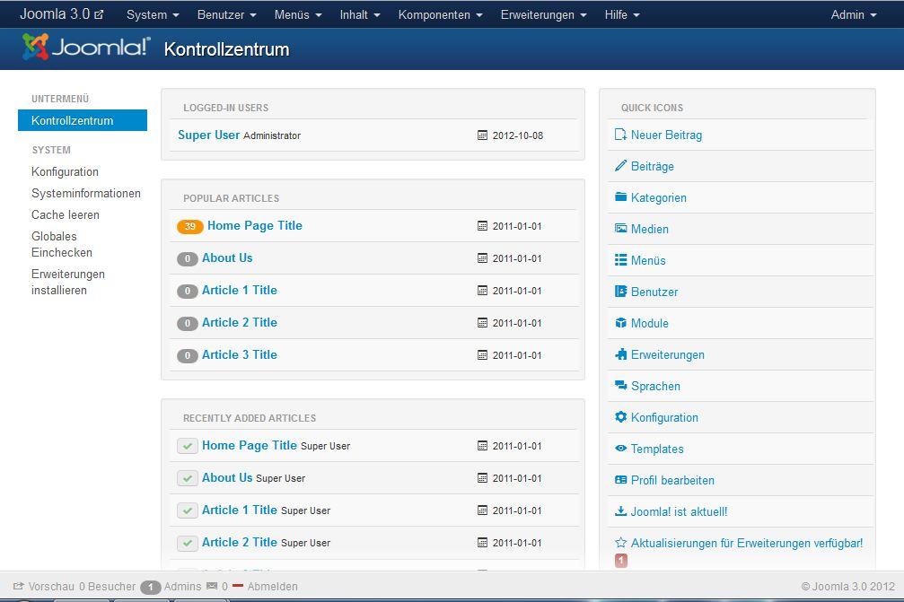 File Joomla 3 Screenshot Der Administrator Seite Jpg