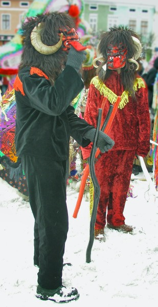 Devils Jukace on 31 December, Żywiec, Poland - Krampus