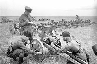 Captured Japanese guns Khalkhin Gol Captured Japanese guns 1939.jpg