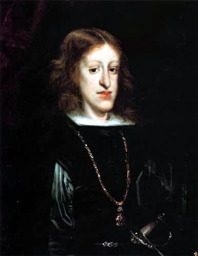 King Charles II of Spain, (1661-1700) by Don Juan Carreño de Miranda.
