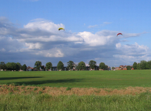 Kites over Hearsall Common - geograph.org.uk - 1387751
