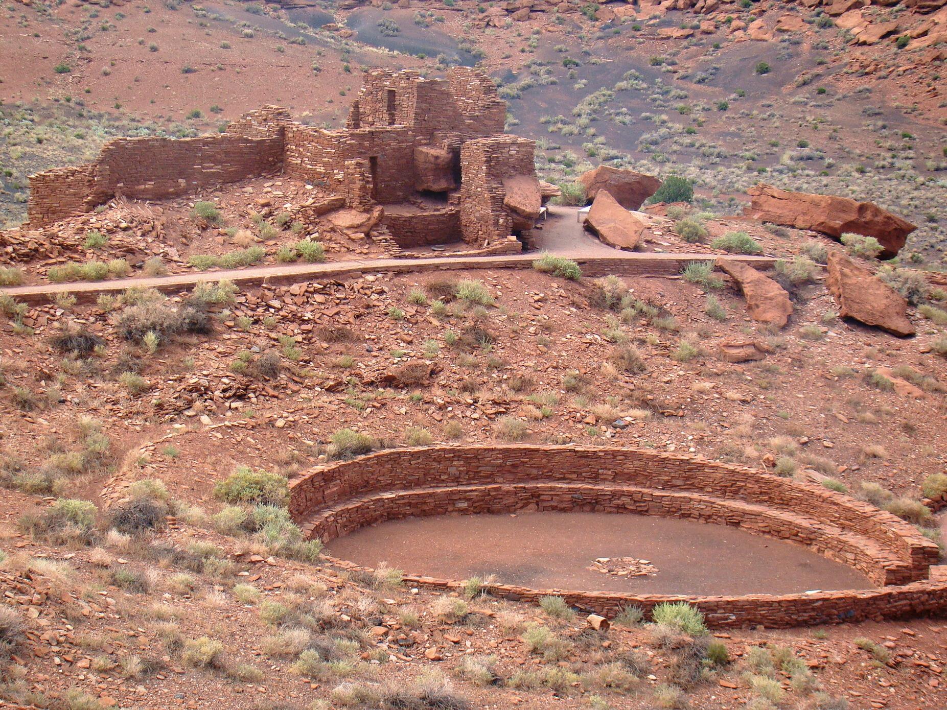 [Arizona] Pueblos Wupatkis  Kiva_at_Wupatki_Pueblo