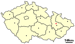 Location of Czech city Unicov.png