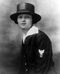 Loretta P. Walsh, first woman to enlist in the U.S. armed forces.