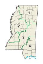 Mississippi districts in these elections