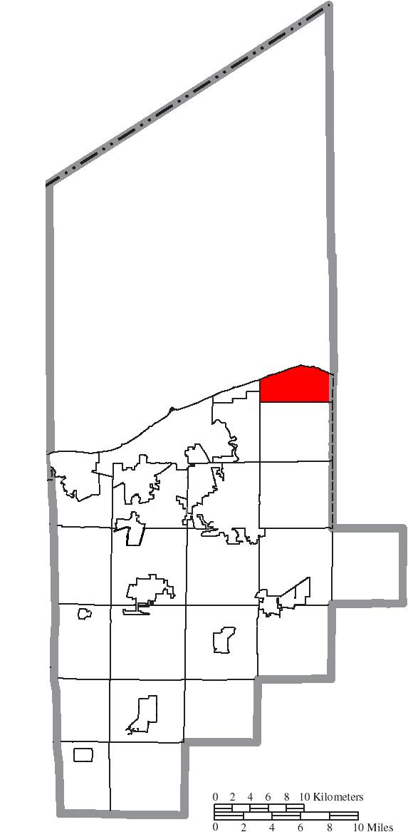 File:Map of Lorain County Ohio Highlighting Avon Lake City