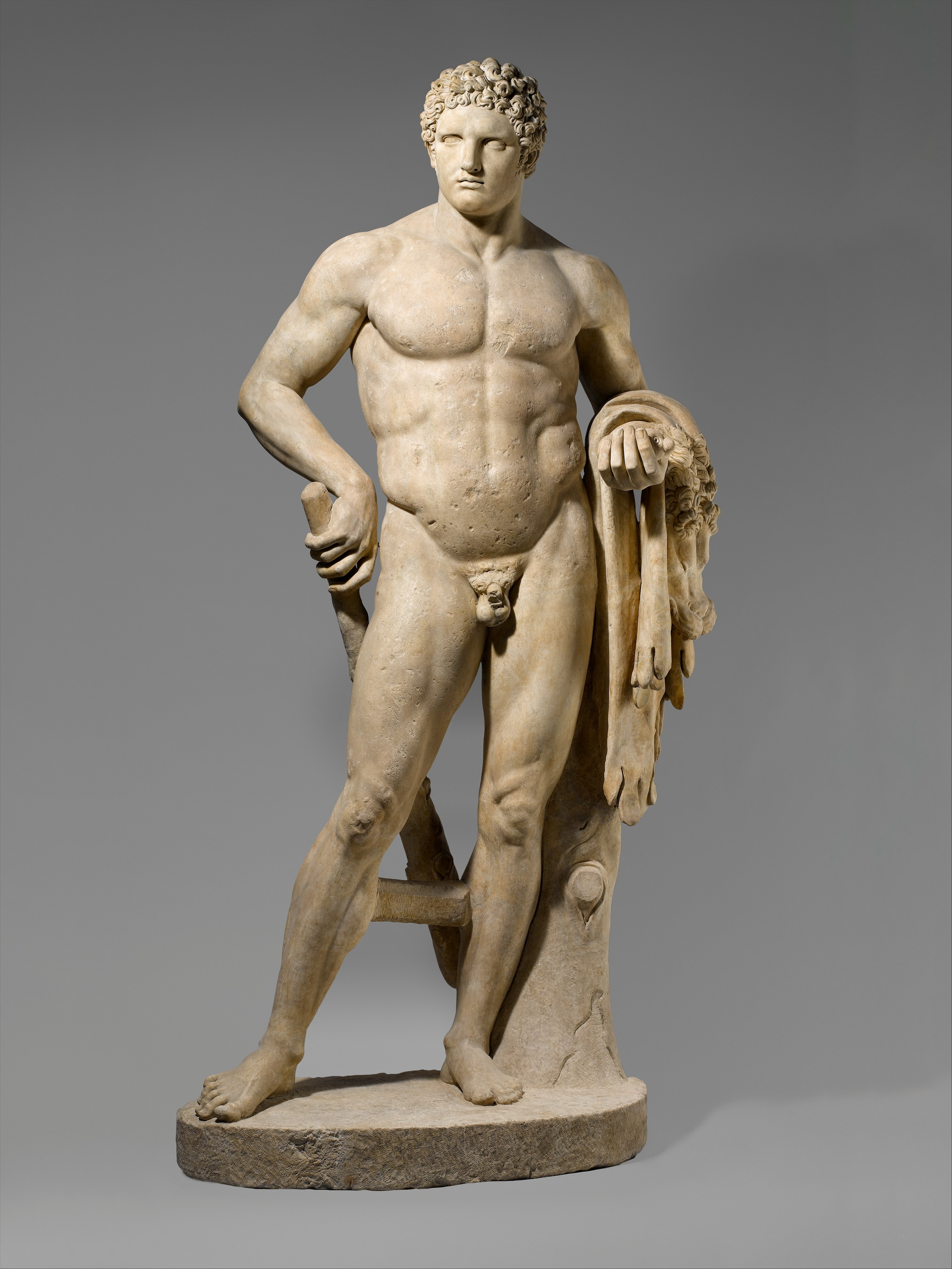 Marble_statue_of_a_youthful_Hercules_MET_DP156215