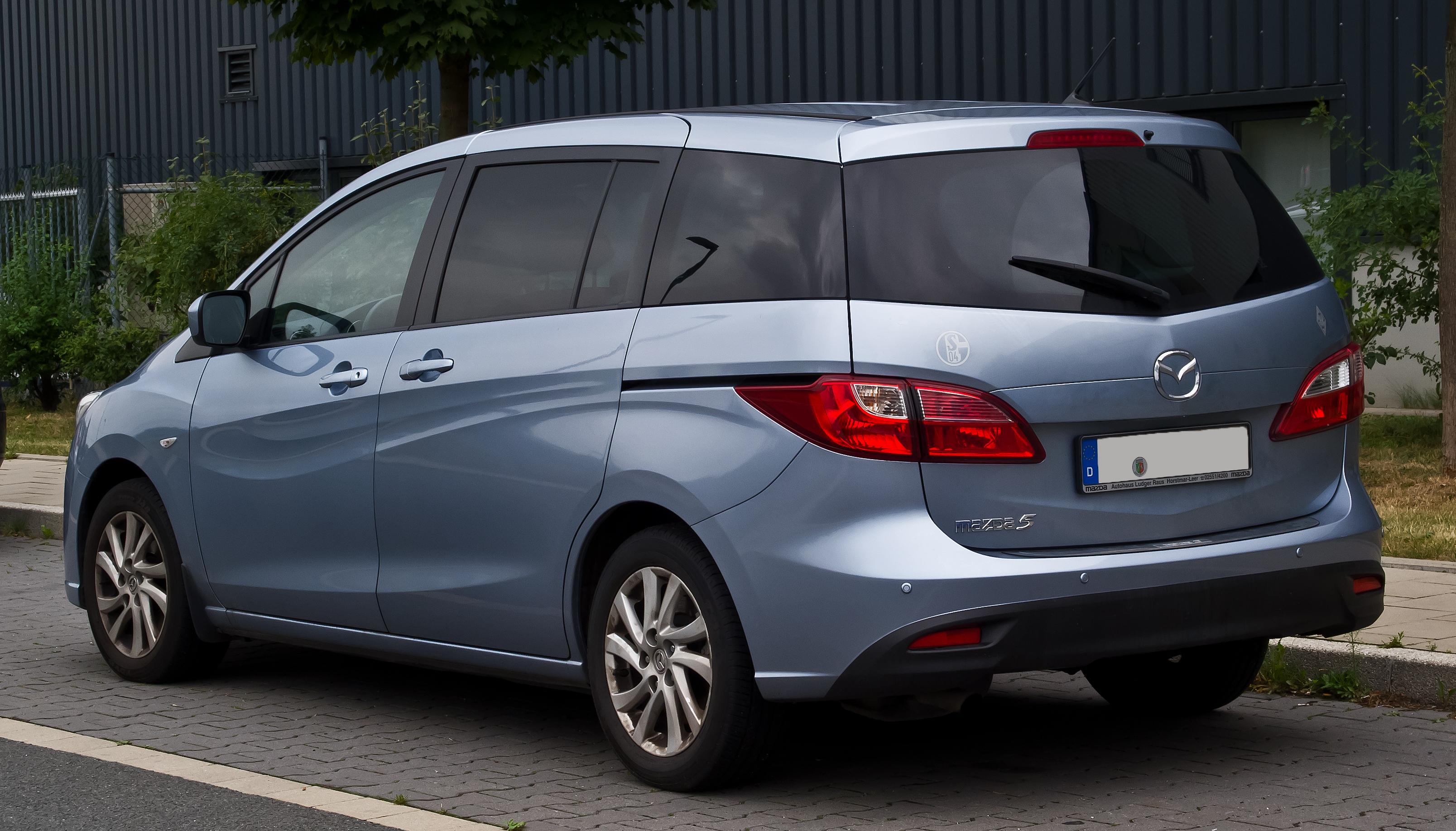File Mazda5 Ii Heckansicht 25 August 2013