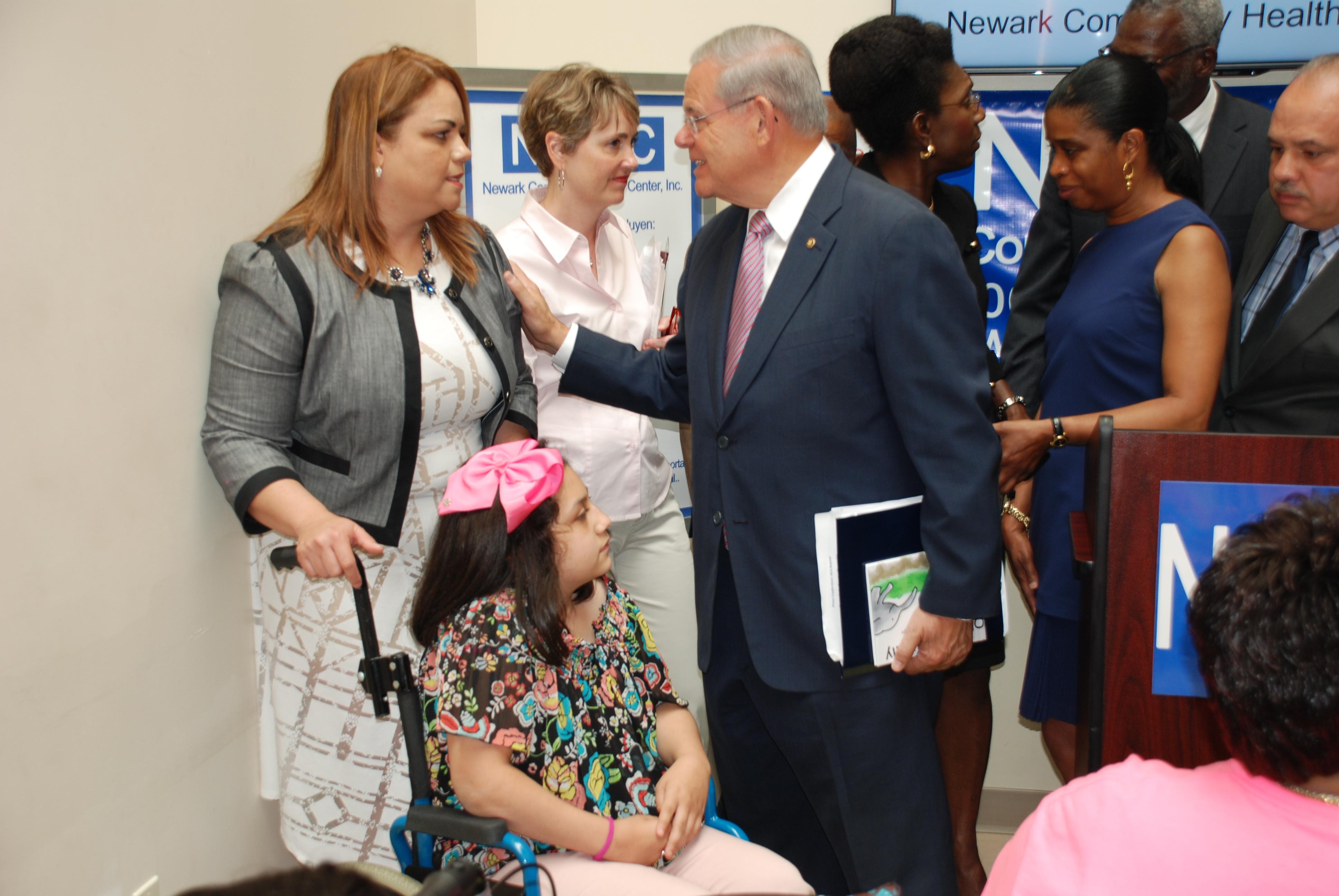 Menendez Joined by NJ Families Abandoned by Heartless GOP Health Bill 6-23-17 (34677882883).jpg Senator Bob Menendez was joined by New Jerseyans