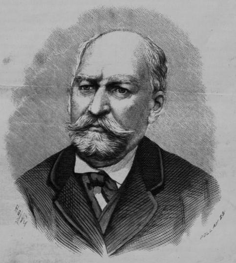 Mentovich Ferenc portréja a Vasárnapi Ujságban