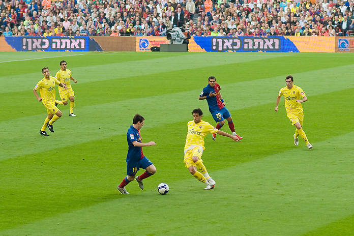 Lionell Messi, hier gegen Villareal; photographed by Aitor Escauriaza