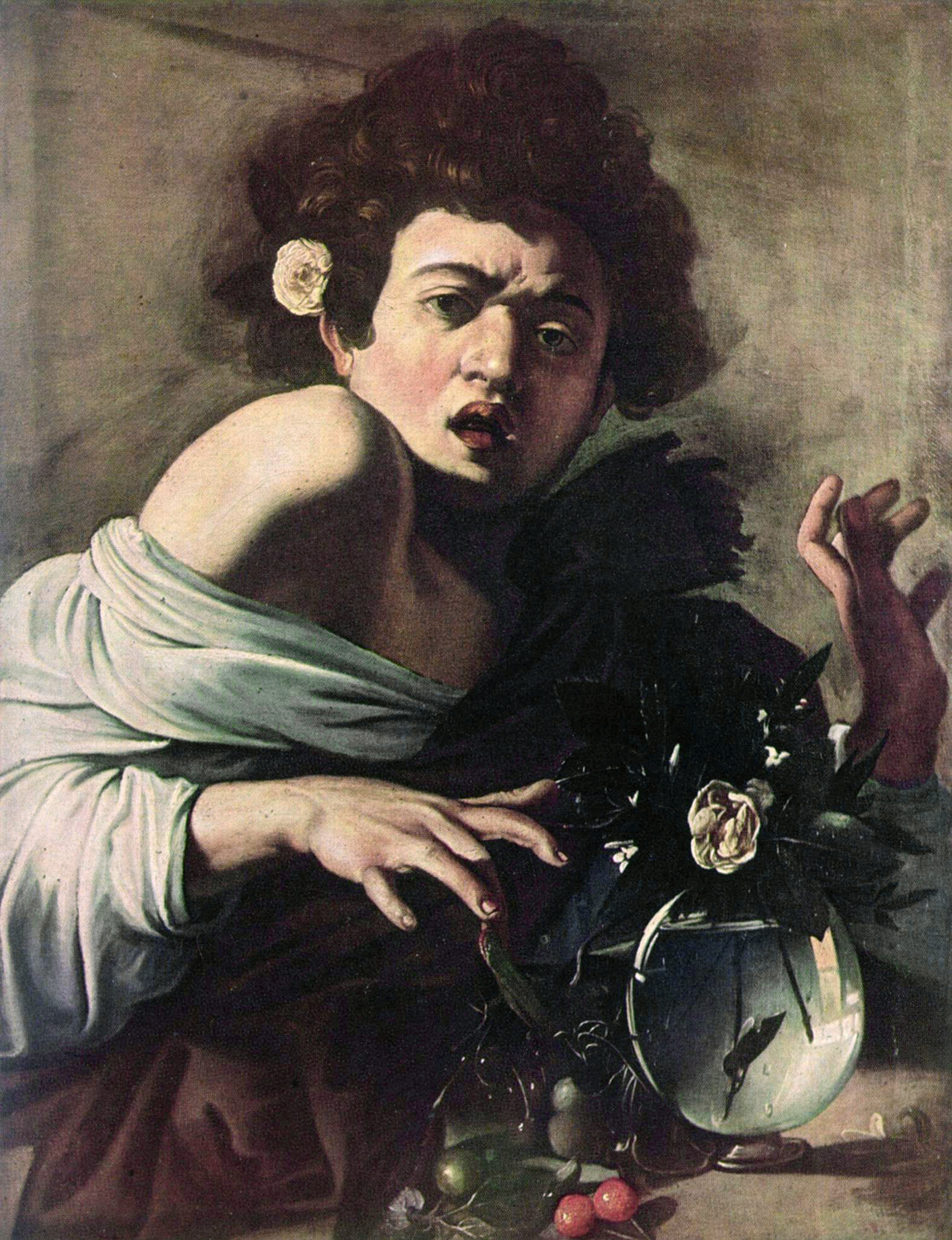 Boy Bitten by a Lizard by Caravaggio Outside of ...