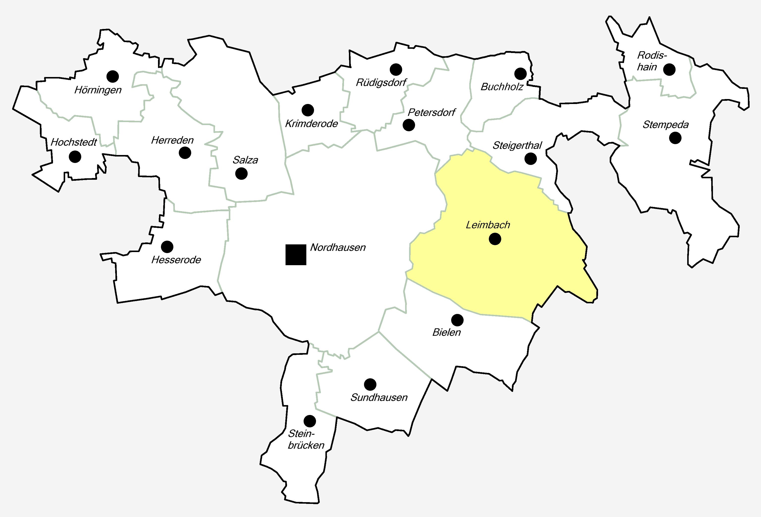 Nordhausen Karte.Leimbach Nordhausen Wikipedia
