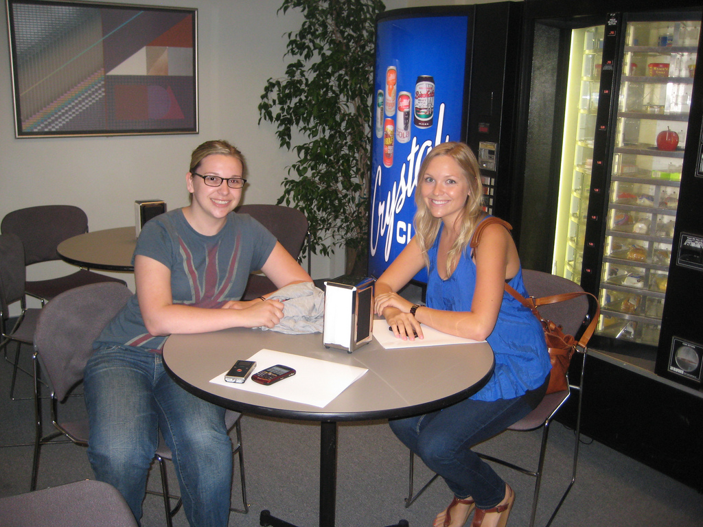 File:Natalie Abrams and Megan Masters in the break room (3817586419 ...
