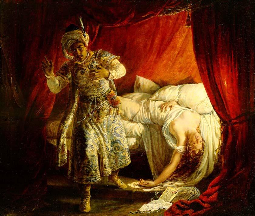 Description Othello and Desdemona by Alexandre-Marie Colin jpgOthello And Desdemona Art