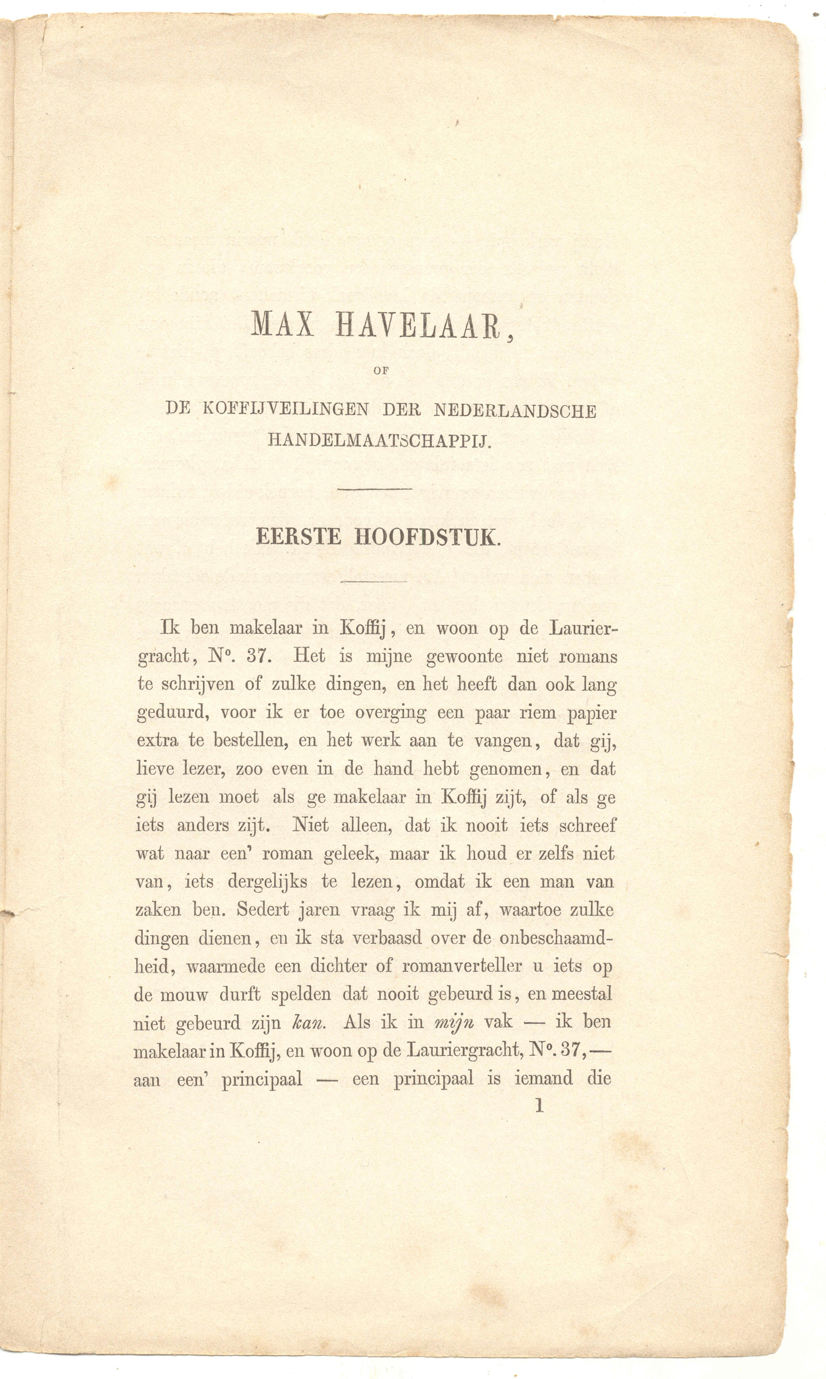 Max Havelaar Pdf