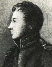 Ο Πάβελ Ιβάνοβιτς Πέστελ ως νεαρός αξιωματικός, έργο της μητέρας του το 1813