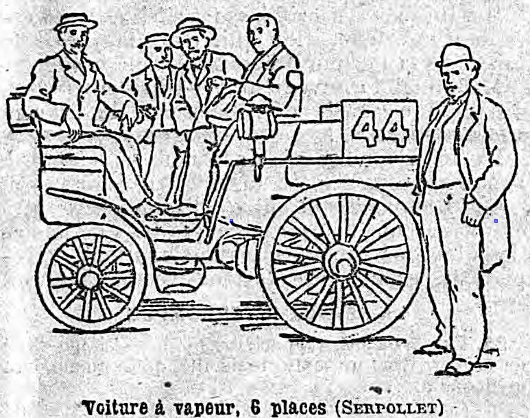 file petit journal 22 7 1894 serpollet steam voiture completes paris wikimedia commons. Black Bedroom Furniture Sets. Home Design Ideas