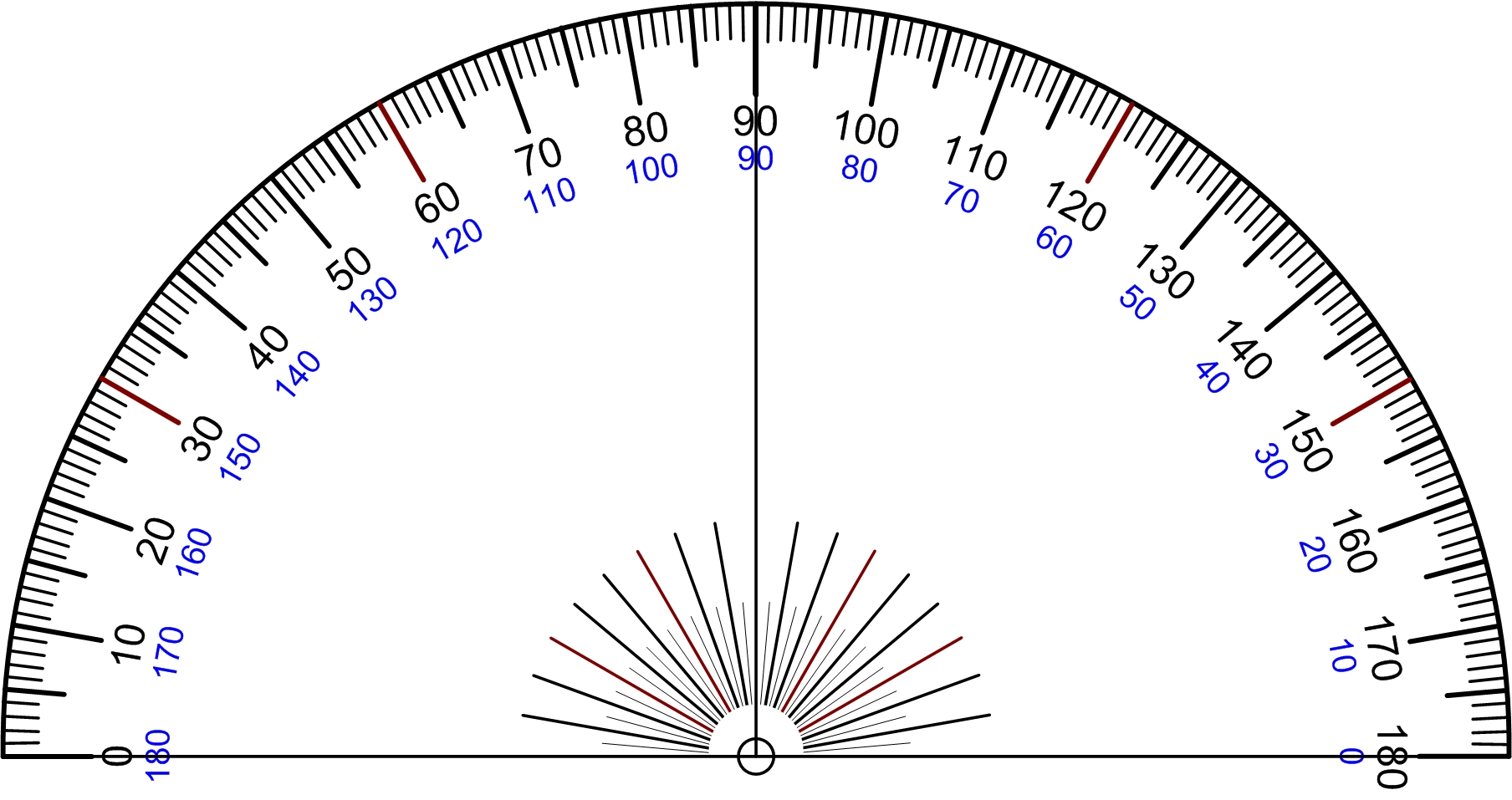 File protractor rapporteur degree wikimedia commons for Transportador de angulos