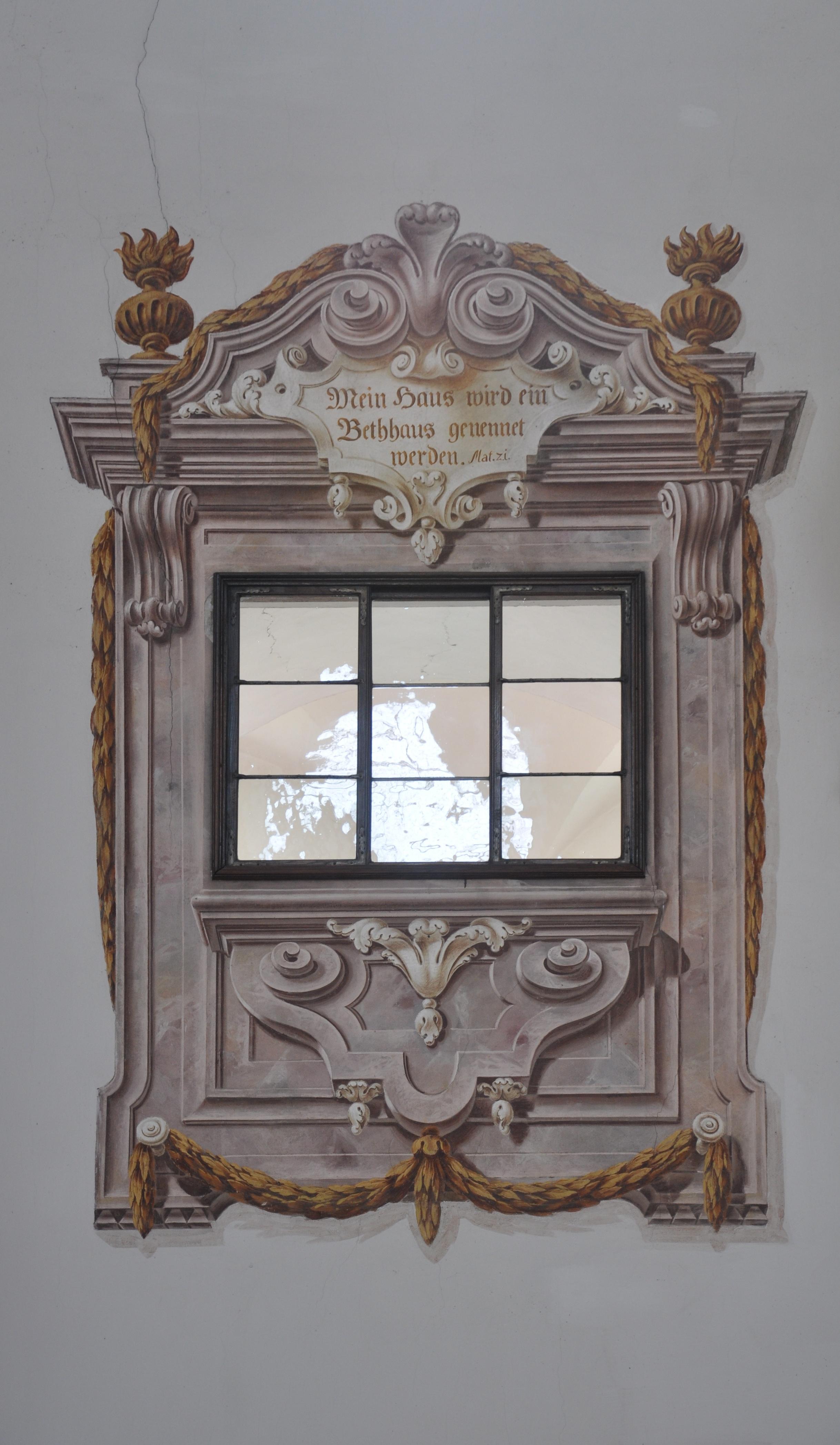 Trompe L Oeil Malerei file reichersberg stiftskirche fresken trompe l oeil fenster jpg