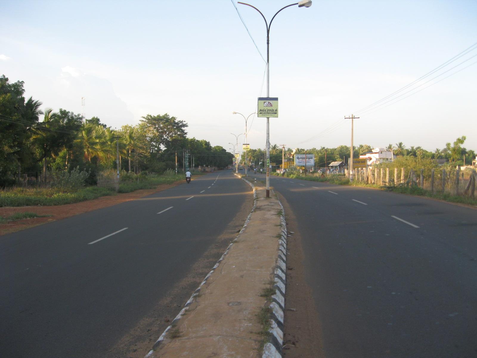 Pudukkottai Road in Thanjavur City