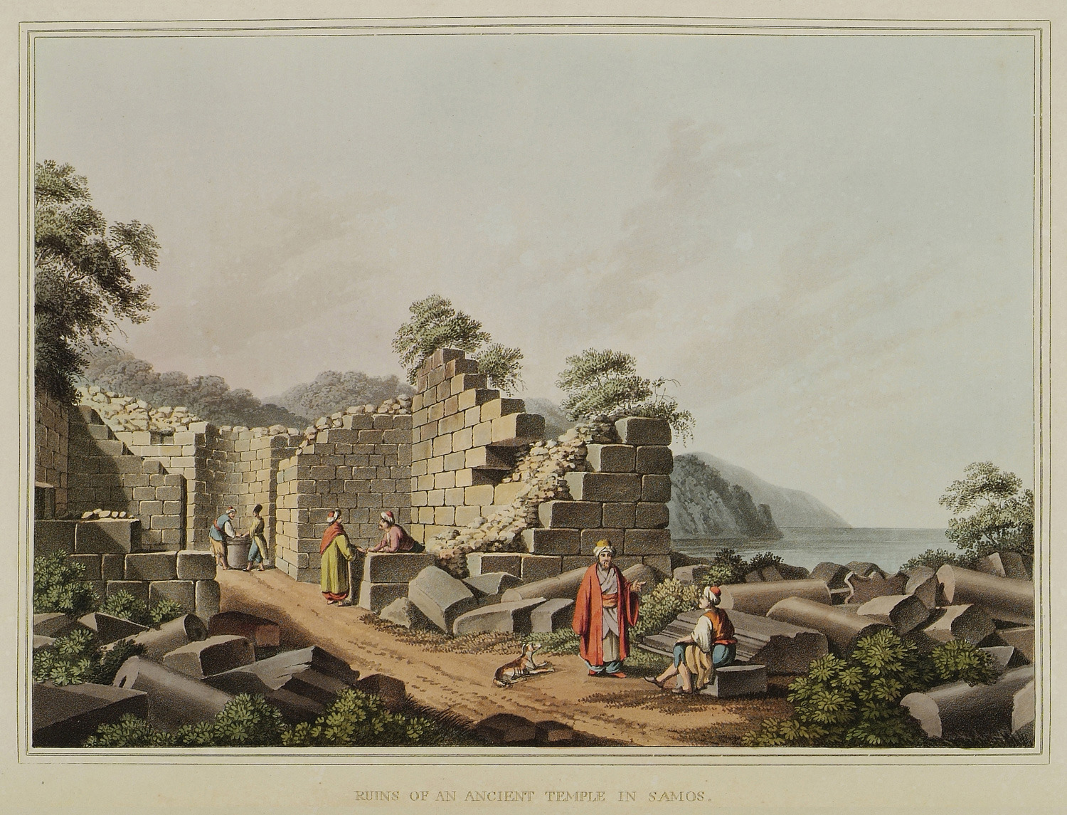 File Ruins Of An Ancient Temple In Samos Mayer Luigi 1810 Jpg Wikimedia Commons
