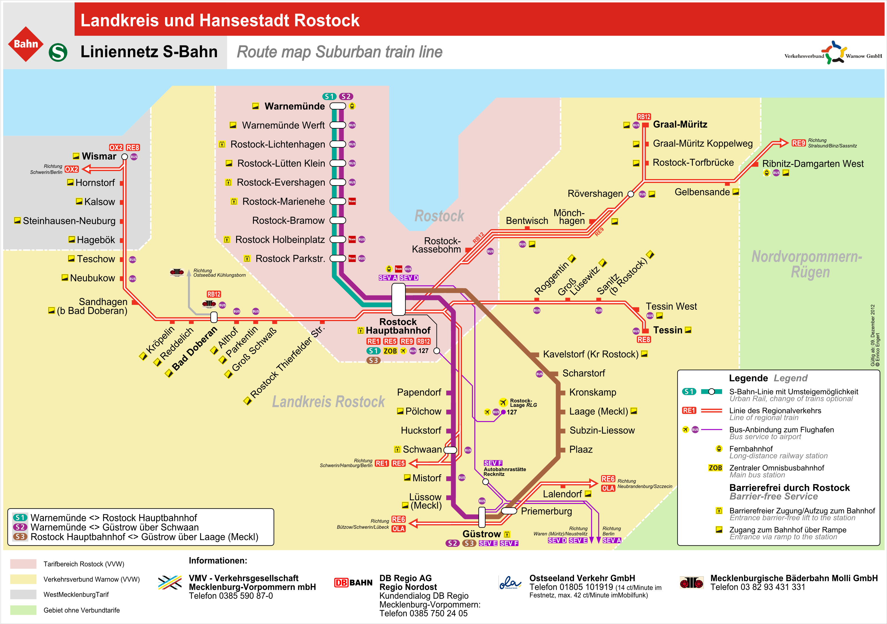 Rostock Train Map