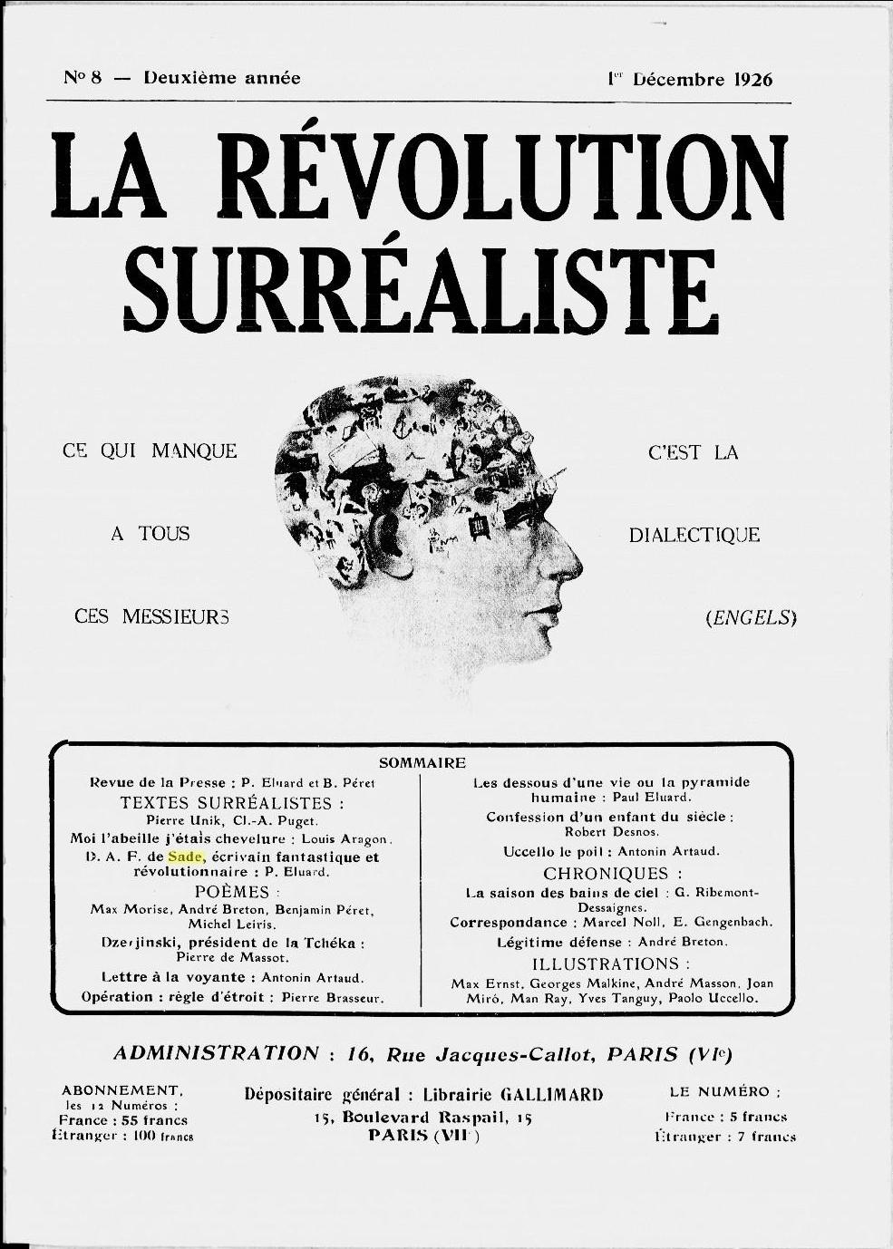 Portada; N.º 8, (1926).