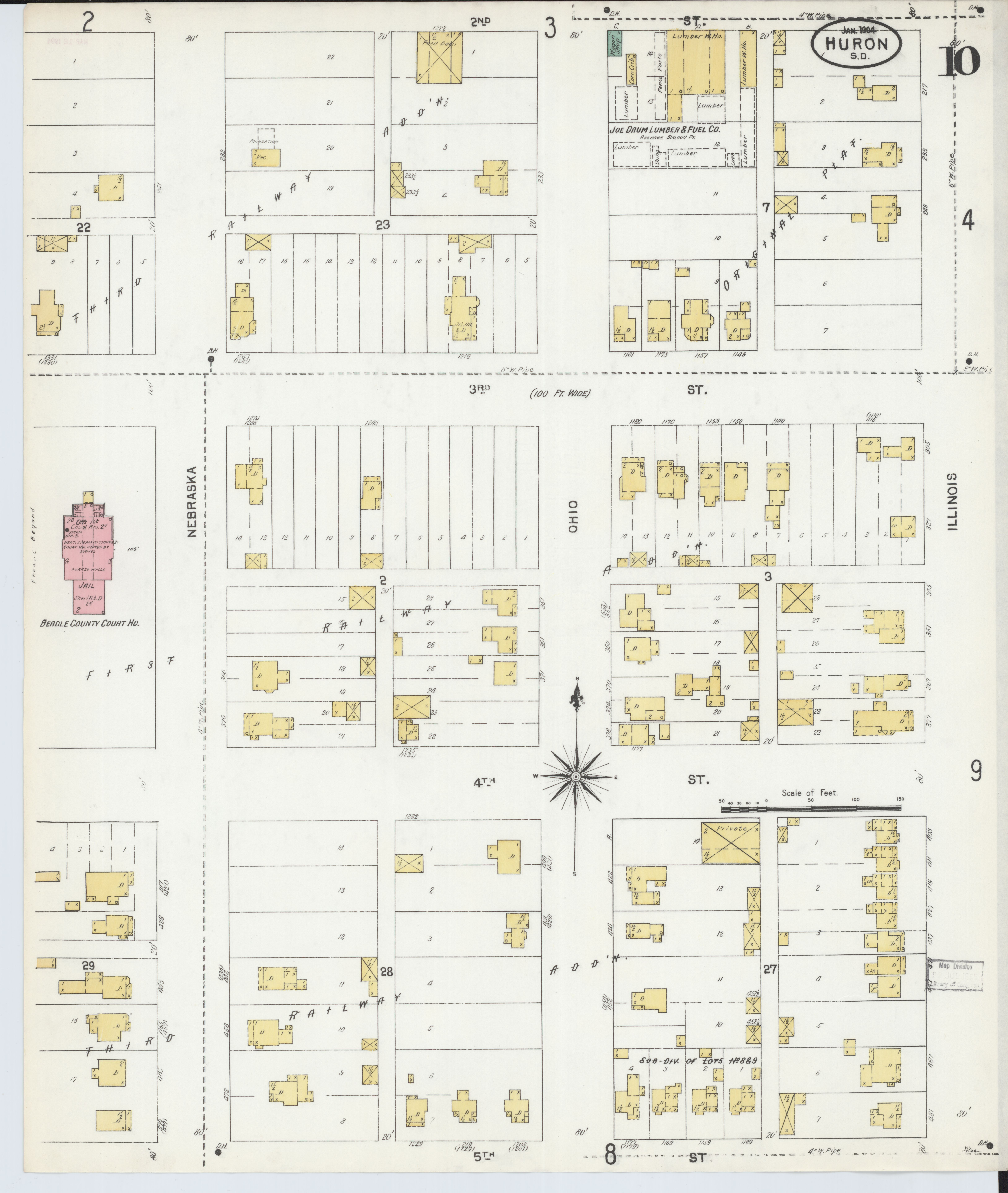 File:Sanborn Fire Insurance Map from Huron, Beadle County, South