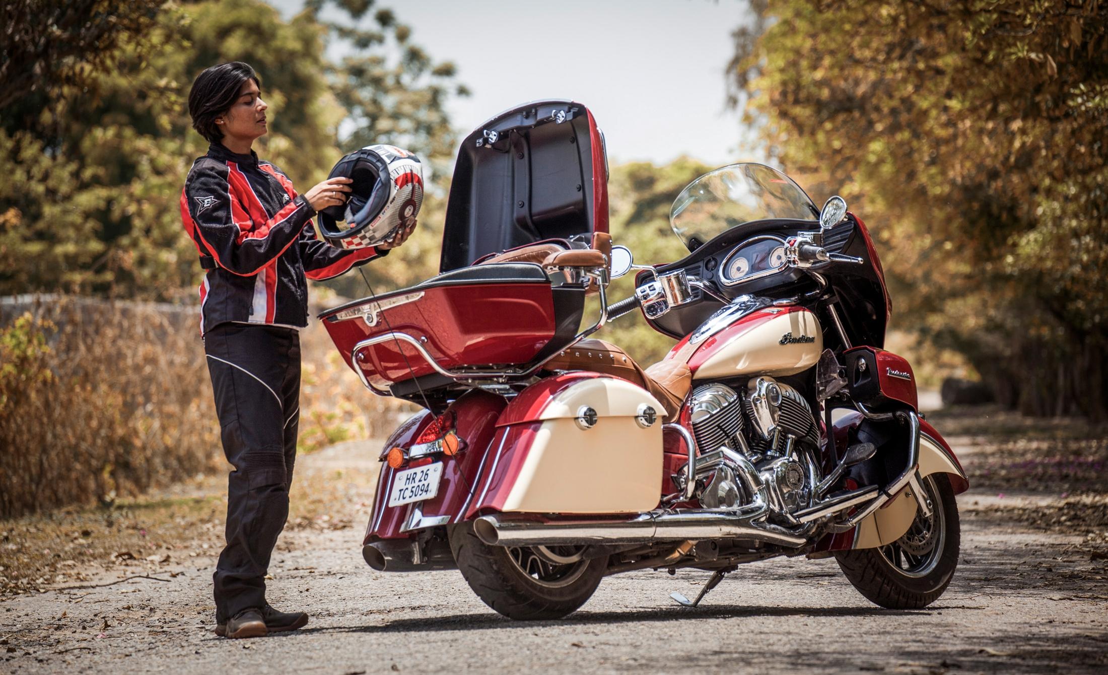 File Sonia Jain With Indian Roadmaster Motocycle Jpg