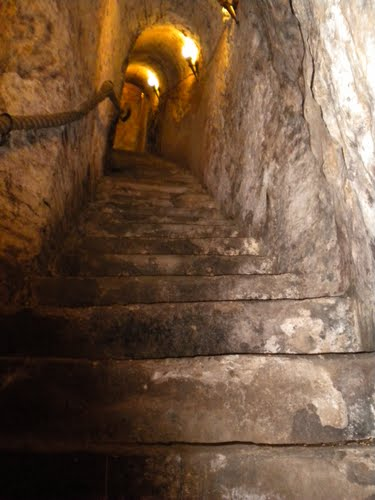 File Stairs Cut Into Rock In An Underground Wine Cave In