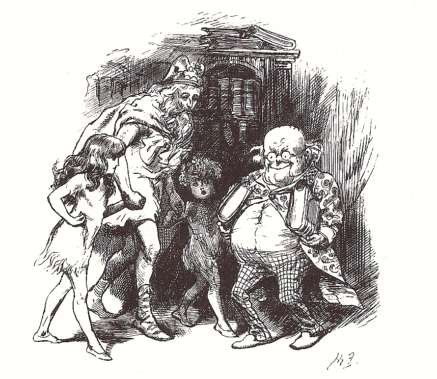 Original illustration for Sylvie and Bruno by Harry Furniss