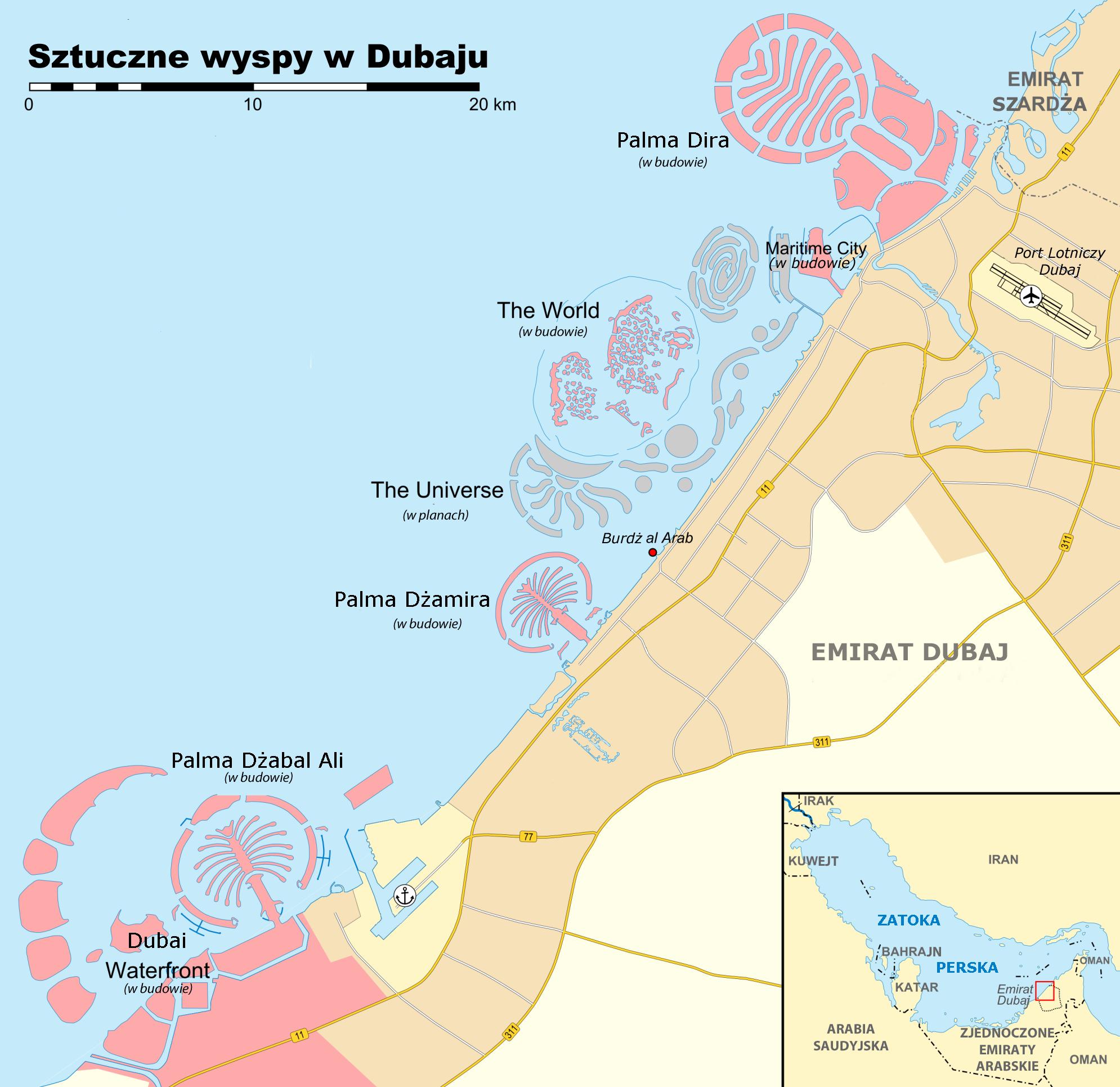 Дубай карта с космоса бизнес недвижимости в дубае