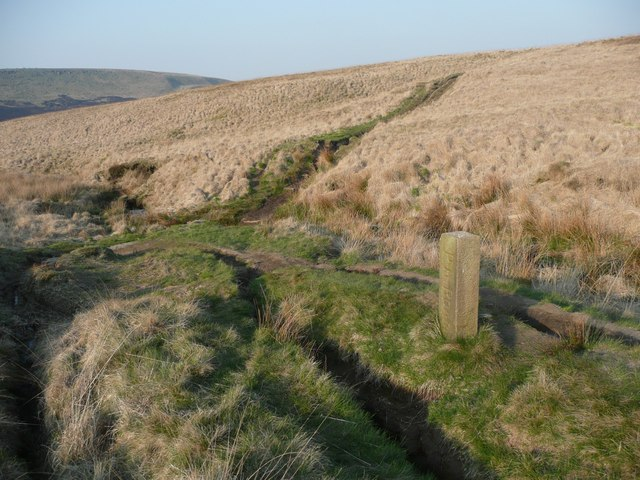 The Pack Horse Road at Stone ^3, Marsden - geograph.org.uk - 797586