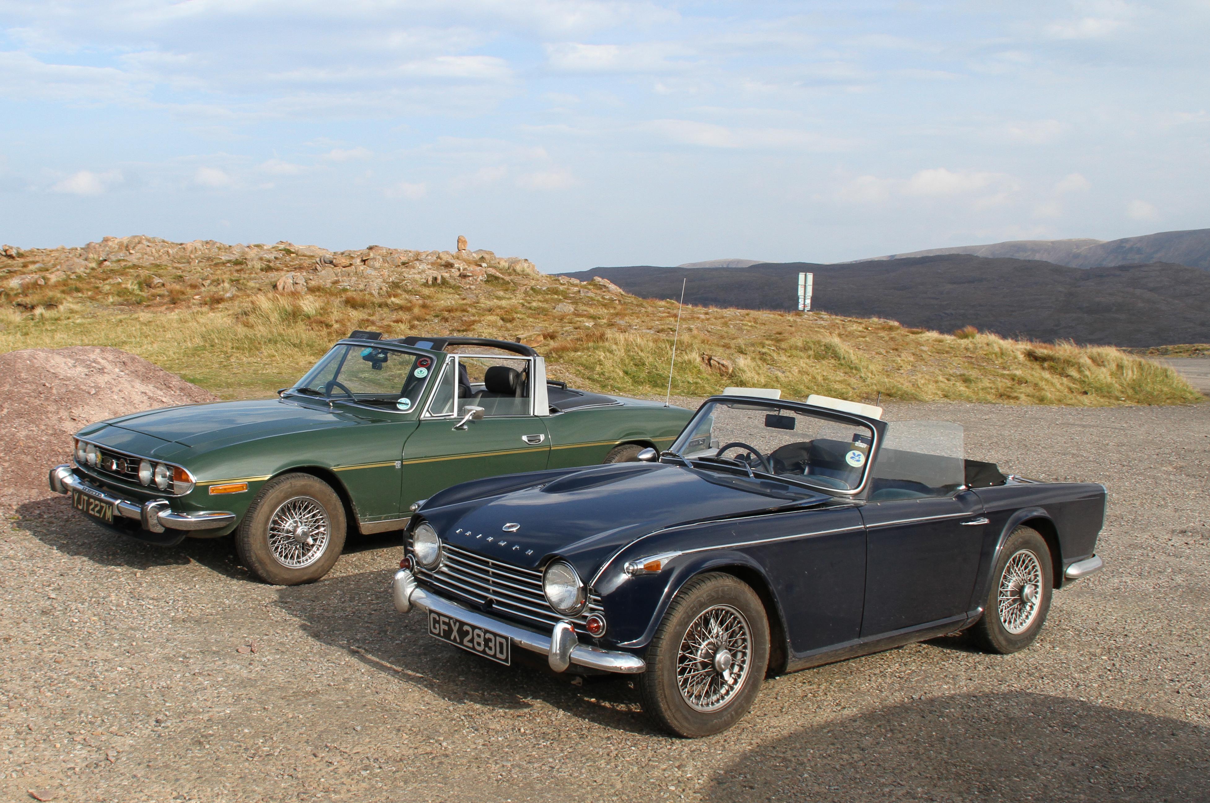 File:Triumph TR4a and a Triumph Stag (37411614106) jpg