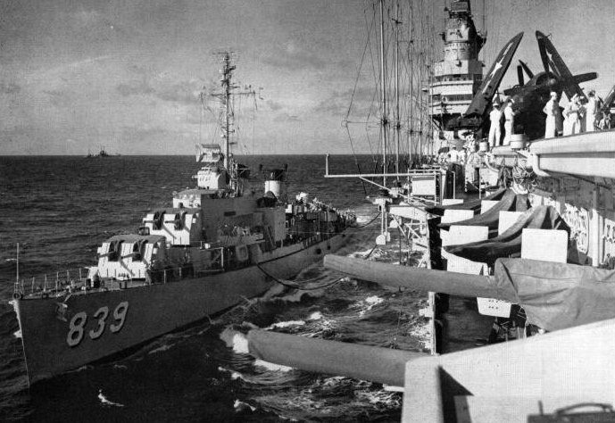 File:USS Power (DD-839) refueling from Midway (CVB-41) c1947.jpg