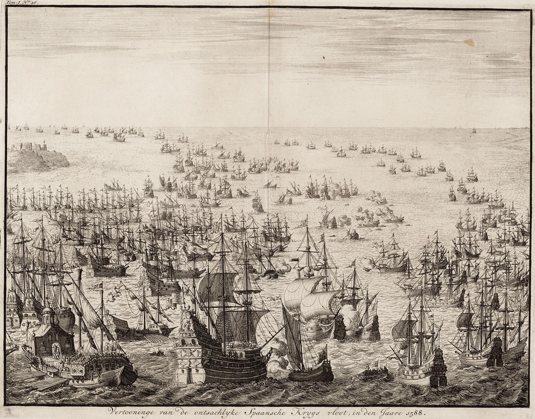 File:Vertooninge van de ontsachlyke Spaansche krygs vloot, in den jaare 1588  - The