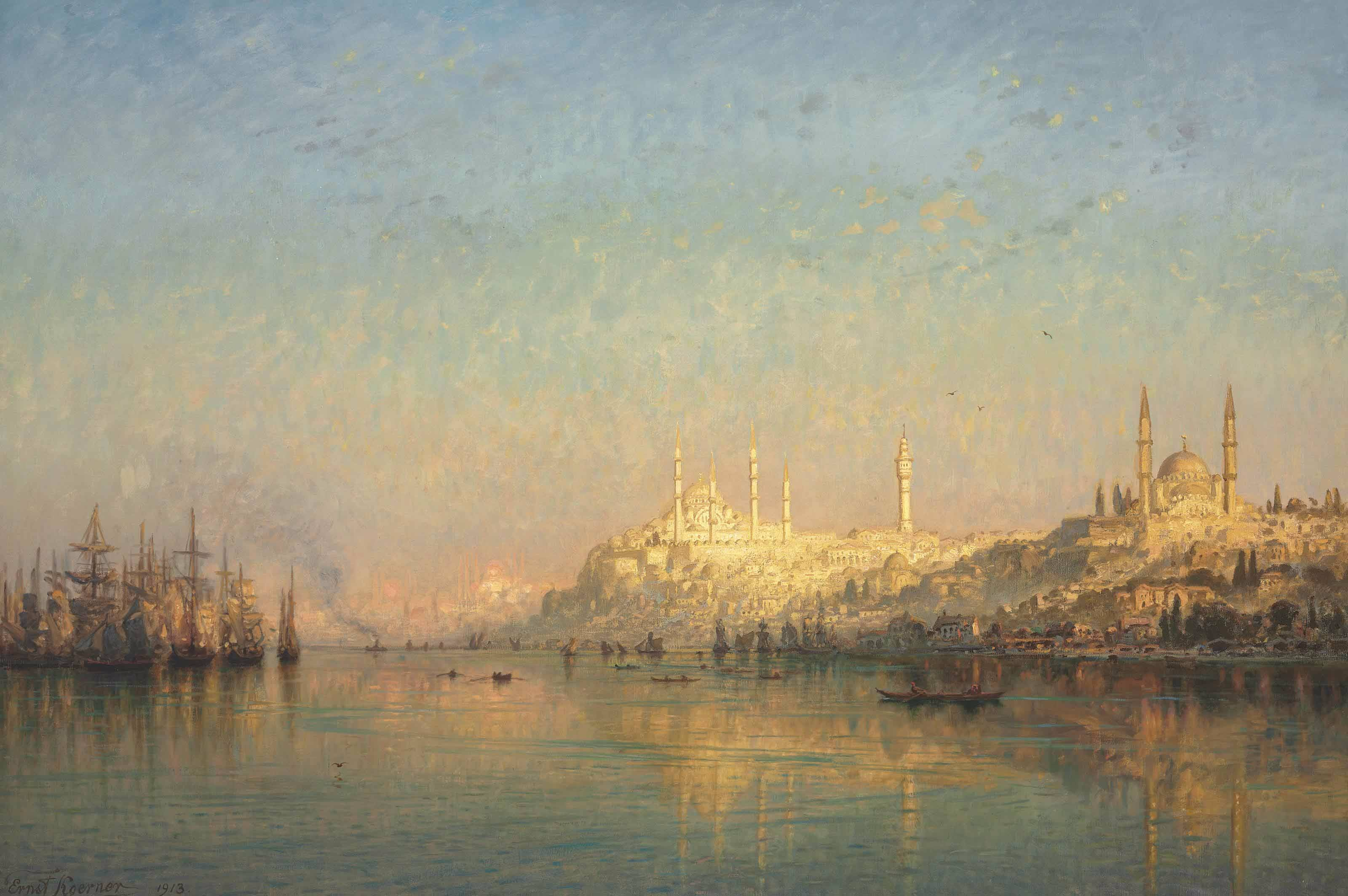 File:View Across The Golden Horn, Hagia Sophia And The