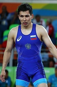 Viktor Lebedev at the 2016 Summer Olympics, Men's Freestyle Wrestling 57 kg.jpg