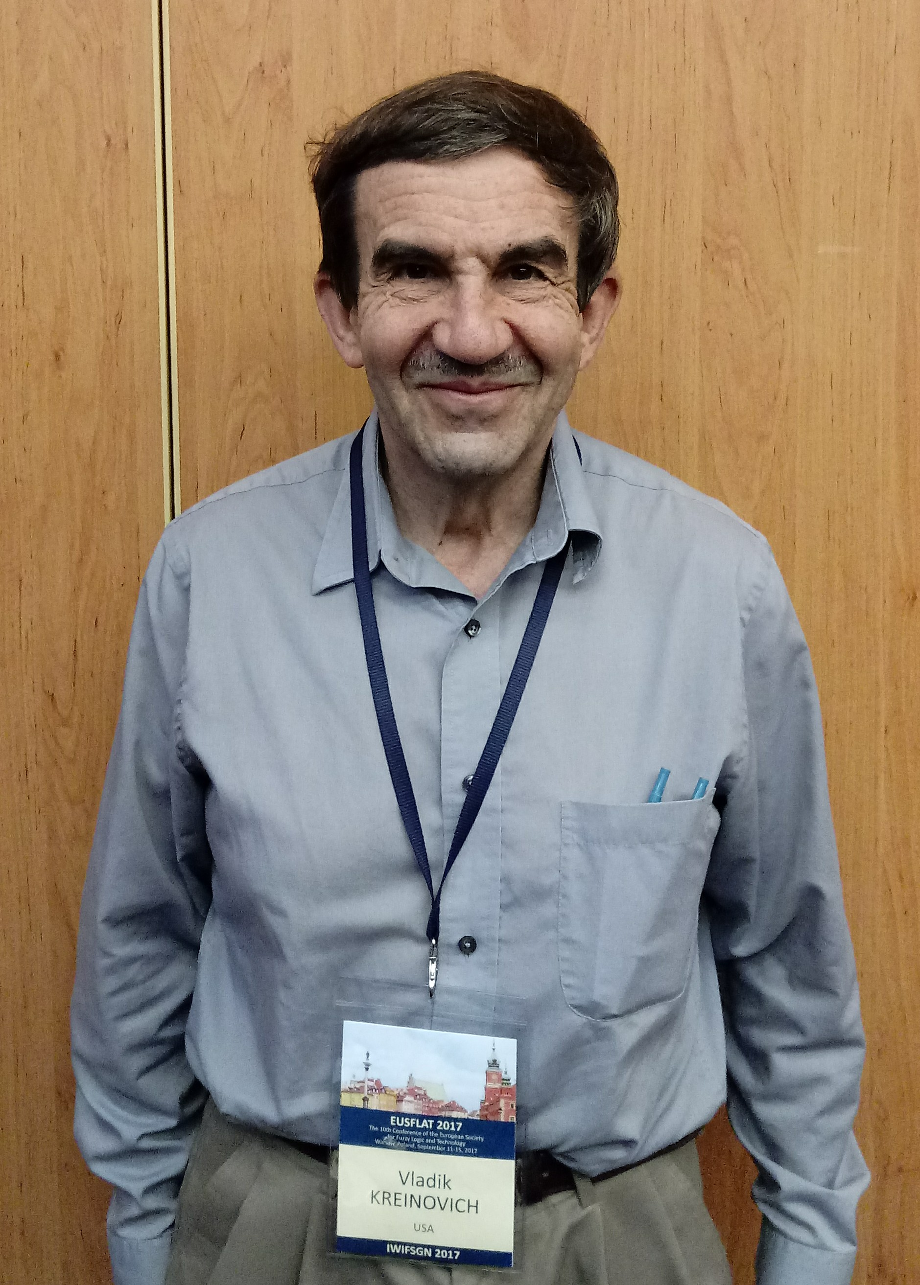Prof. Vladik Kreinovich at the 10th EUSFLAT Conference, 12 September 2017, Warsaw, Poland