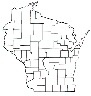 Location of Hartford, Washington County, Wisconsin, Wisconsin