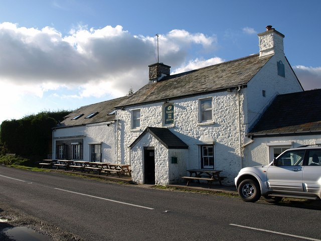 An image of the Warren House Inn on Dartmoor.