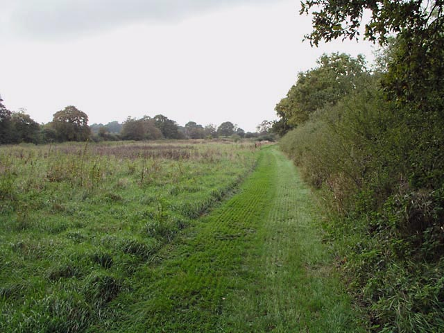 Well maintained footpath by Brockhurst Brook - geograph.org.uk - 258765