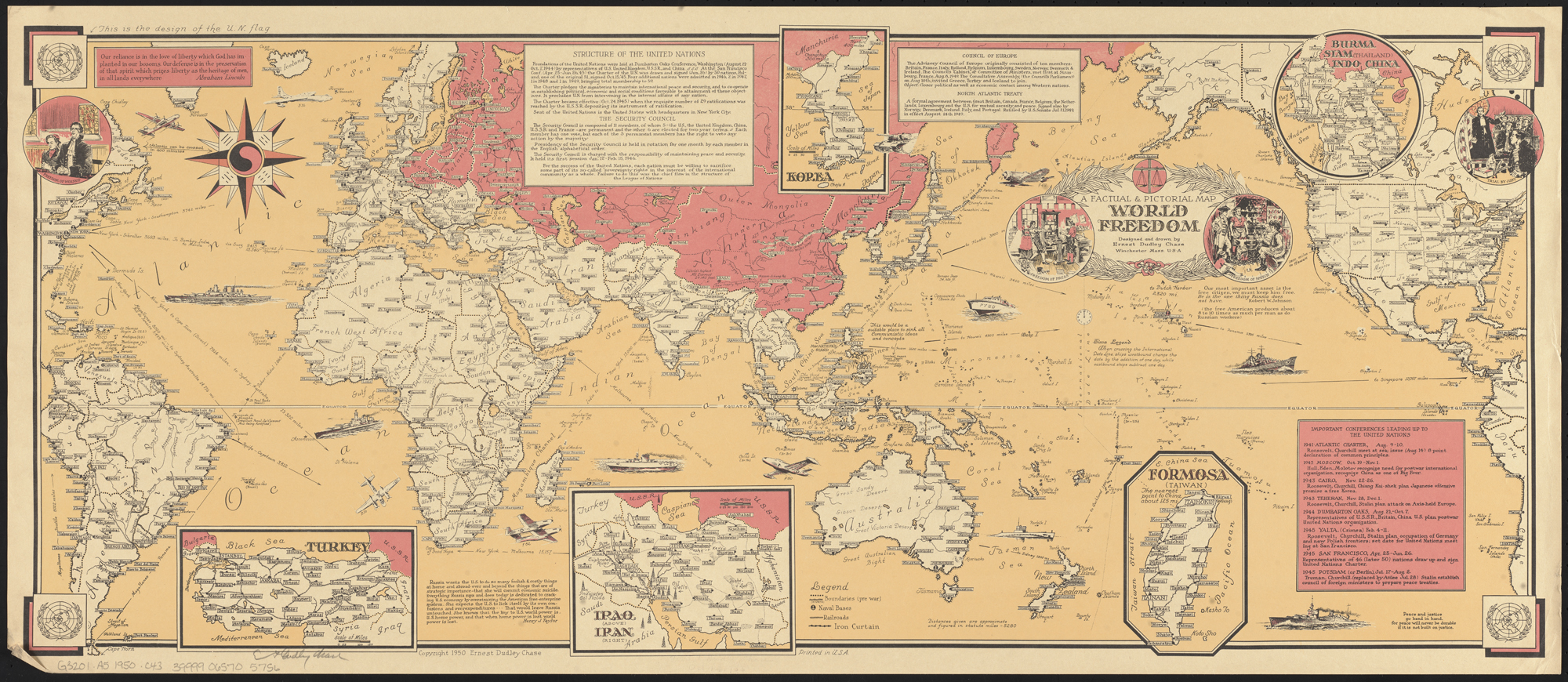 File:World Freedom map by Ernest Dudley Chase 1950.jpg - Wikimedia on