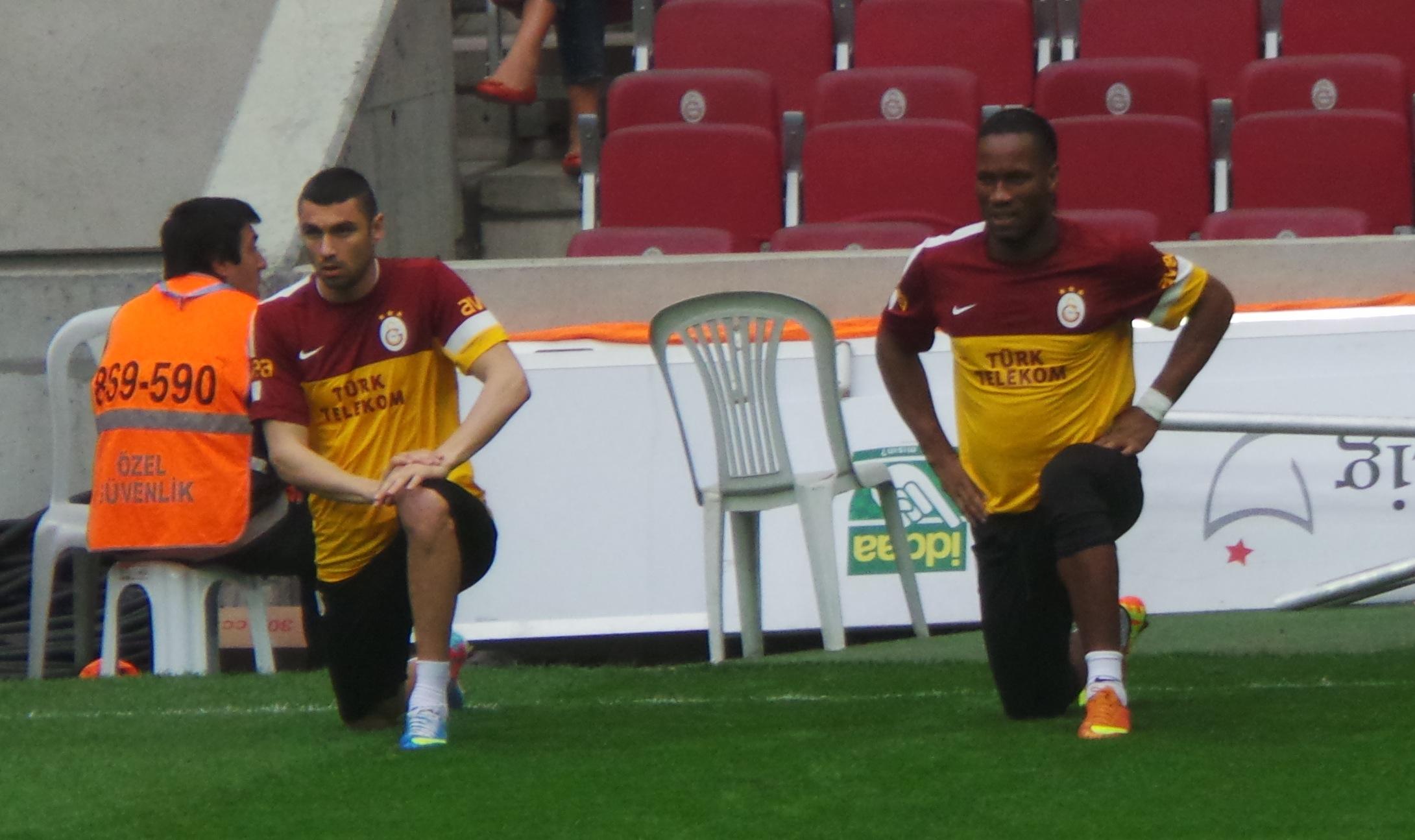 Burak Yilmaz alongside Drogba