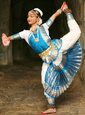 A dancer of Sri Devi Nrithyalaya performing on...