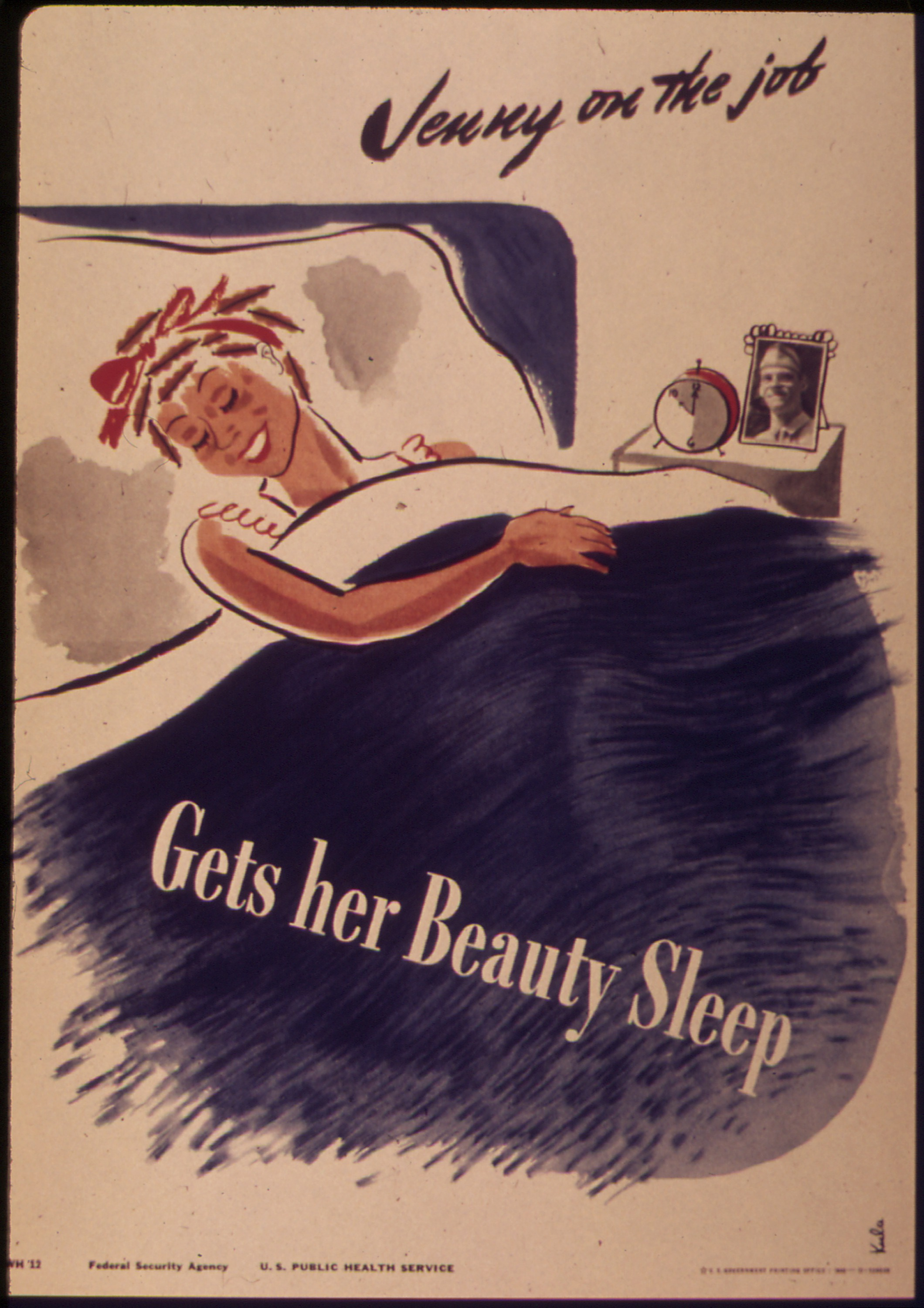 Jenny on the job gets her beauty sleep - Zeichnung, Quelle: WikiCommons, siehe Artikel unten